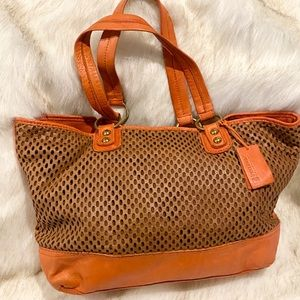 Linea Pelle Perforated Leather Tote